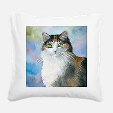 Cat 572 Calico Square Canvas Pillow