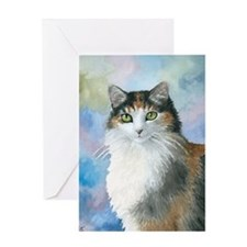 Cat 572 Calico Greeting Card