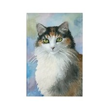 Cat 572 Calico Rectangle Magnet