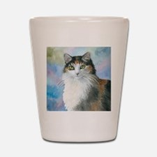 Cat 572 Calico Shot Glass