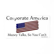 Corporate America Aluminum License Plate