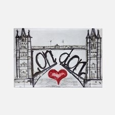 London with love Rectangle Magnet
