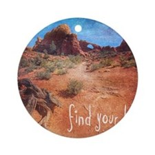 Find Your Bliss Round Ornament