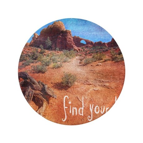 """Find Your Bliss 3.5"""" Button"""