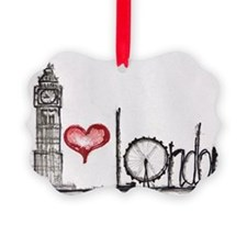I love London Picture Ornament