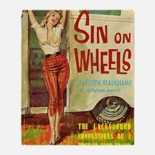 Sin On Wheels Throw Blanket