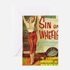 Sin On Wheels Greeting Card
