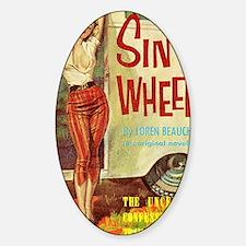 Sin On Wheels Sticker (Oval)