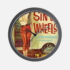 Sin On Wheels Wall Clock