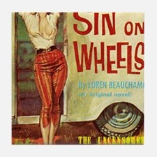 Sin On Wheels Tile Coaster