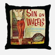 Sin On Wheels Throw Pillow