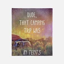 Camping Trip Throw Blanket