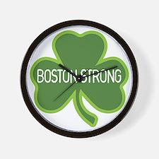Boston Strong Shamrock Wall Clock