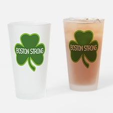 Boston Strong Shamrock Drinking Glass