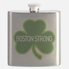 Boston Strong Shamrock Flask