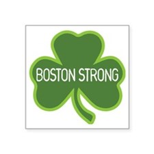 "Boston Strong Shamrock Square Sticker 3"" x 3"""