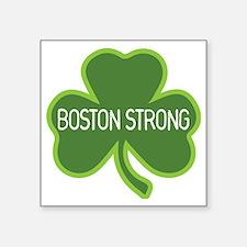 "Boston Strong Shamrock Square Sticker 3"" x 3"""