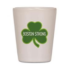Boston Strong Shamrock Shot Glass