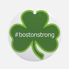 #bostonstrong shamrock Round Ornament