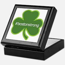 #bostonstrong shamrock Keepsake Box
