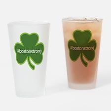 #bostonstrong shamrock Drinking Glass
