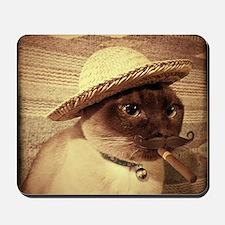 Gato w/Cigar Mousepad