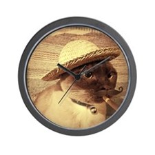 Gato w/Cigar Wall Clock