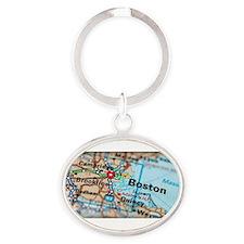 Boston run again Oval Keychain