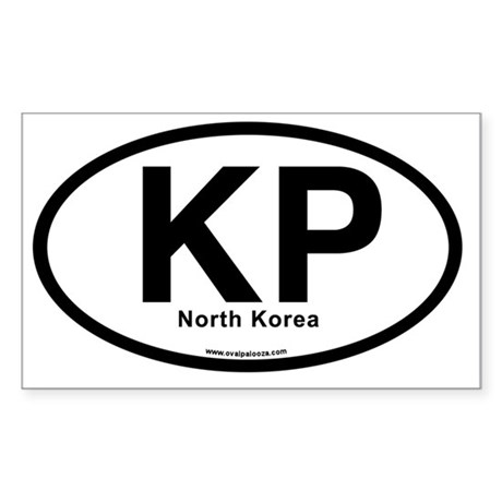 KP - North Korea (oval) Sticker (Rectangle)