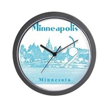 Minneapolis_10x10_SpoonbridgeAndCherry_ Wall Clock