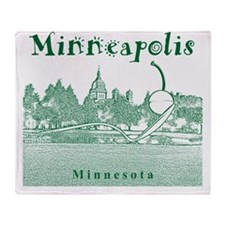 Minneapolis_10x10_SpoonbridgeAndCher Throw Blanket
