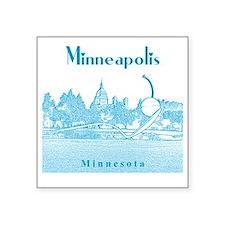 "Minneapolis_10x10_Spoonbrid Square Sticker 3"" x 3"""