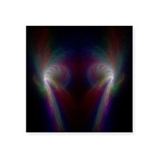"Rainbow Storm Square Sticker 3"" x 3"""