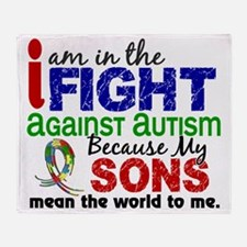 D Sons Mean The World To Me Autism Throw Blanket