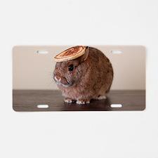 pancake bunny Aluminum License Plate
