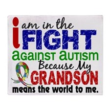 D Grandson Means The World To Me Aut Throw Blanket