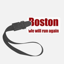 Boston: We will run again - red Luggage Tag