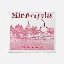 Minneapolis_10x10_SpoonbridgeAndCher Throw Blanket