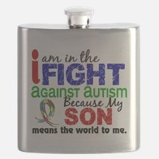 D Son Means The World To Me Autism Flask