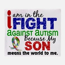 D Son Means The World To Me Autism Throw Blanket