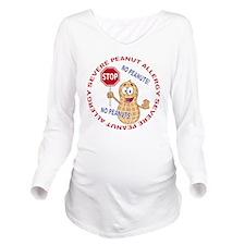Severe Peanut Allerg Long Sleeve Maternity T-Shirt