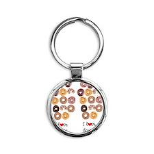 DONUT LOVER Round Keychain