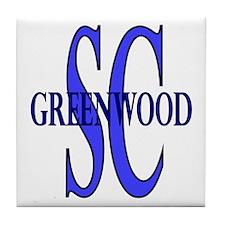 Greenwood South Carolina Tile Coaster