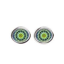 Flower Eye Mandala Cufflinks