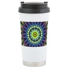 Flower Eye Mandala Travel Mug