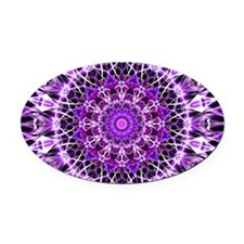 Fly Away Purple mandala Oval Car Magnet