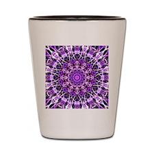 Fly Away Purple mandala Shot Glass