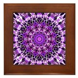 Purple flower mandala Framed Tiles