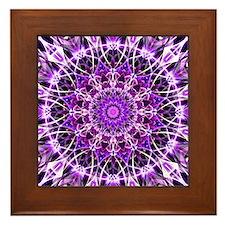 Fly Away Purple mandala Framed Tile
