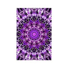 Fly Away Purple mandala Rectangle Magnet